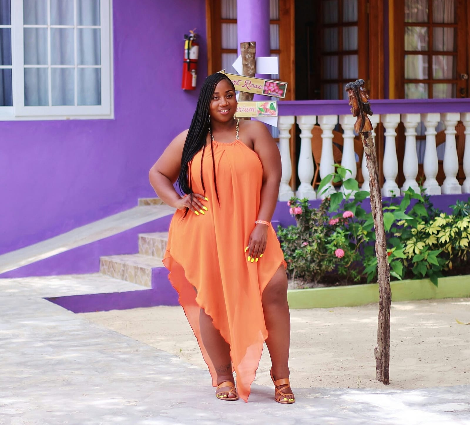 plus size summer vacation outfit