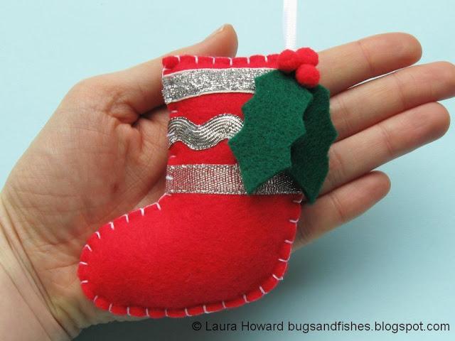 felt stocking ornament
