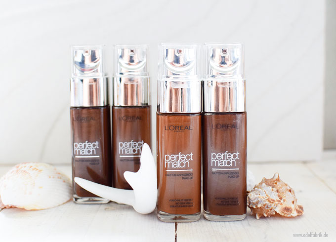 L'Oreal Perfect Match Foundation für dunkle Haut, Nuancen 10 bis 11