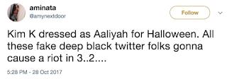 Kim Kardashian Aaliyah Costume Reaction
