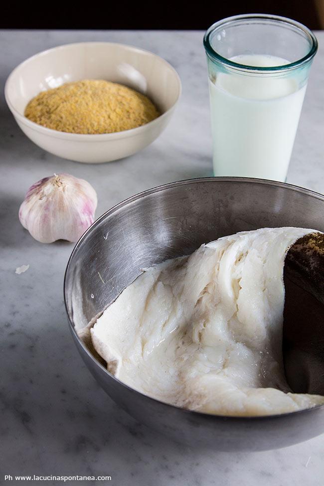 Ingredienti, baccalà con polenta formenton otto file