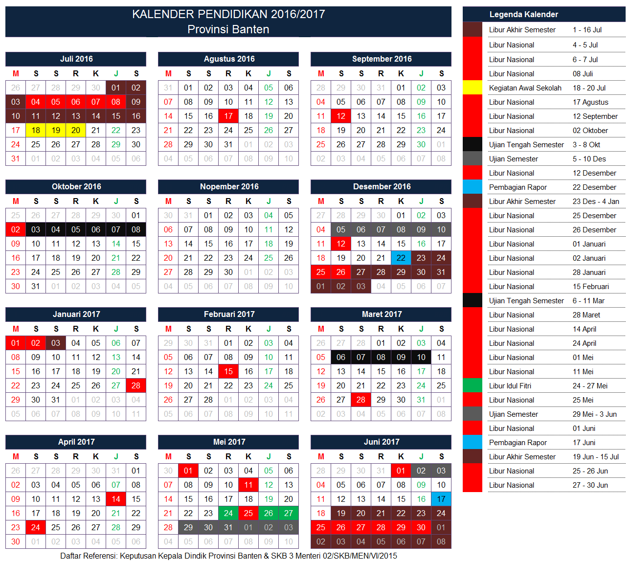 Kalender Pendidikan Provinsi Banten