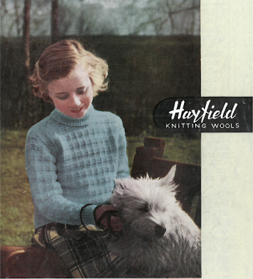 The Vintage Pattern Files: Free 1940's Knitting Pattern - Hayfield 975 Polo Jumper