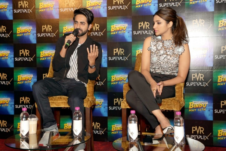 Parineeti and Ayushman Khuranna at Press Meet to Promote Meri Pyari Bindu