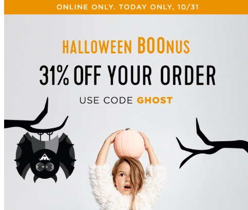 Old Navy 31% off Halloween Boonus Promo Code