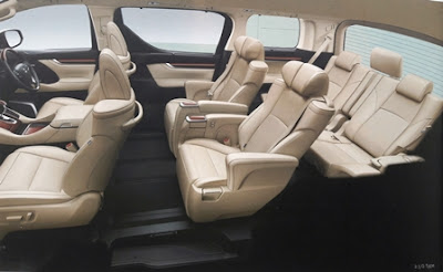 Interior Toyota Alphard 2.5L