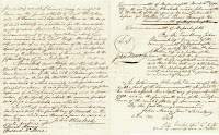 A document of handwritten text.