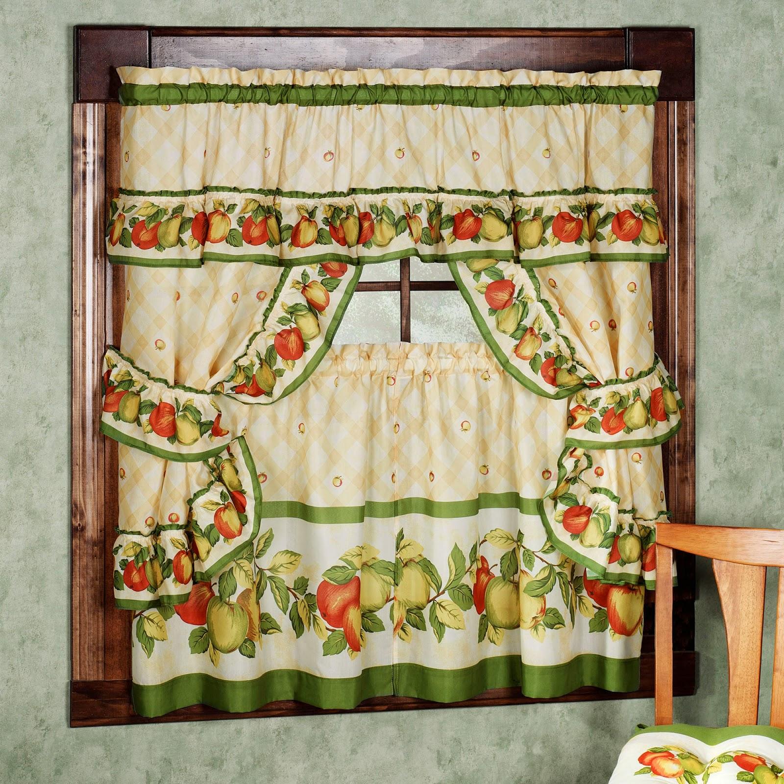 Curtain Ideas Retro Kitchen Curtains And Valances