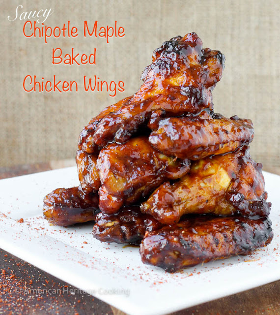 Saucy Chipotle Maple Baked Chicken Wings