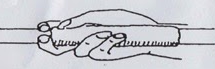 cara memegang lembing dengan pegangan tang