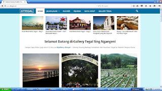 Tampilan website ditegal.com