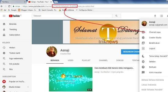 Cara Cepat Mudah Membuat Widget Link Subscribe Youtube di