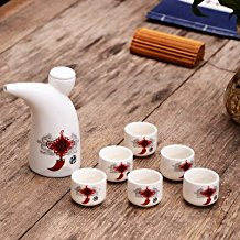 MH-RITA Ceramic Wine Set Horn Moutai Wine Liquor Liquor Wine Cup Small Wine Wine. 6 Cup D
