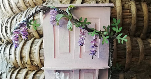 Blauregentür für Muttertag / Wisteria Door for mothersday