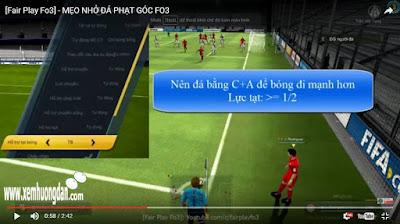 Cach da phat goc fifa online 3
