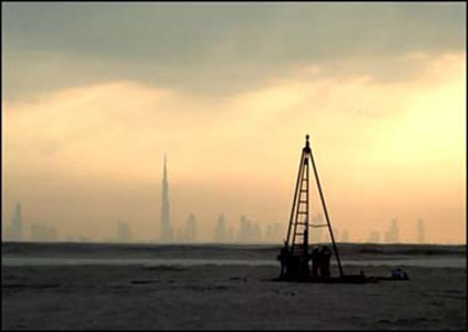 Pilcon Rig at Dubai World Islands project - DuSense LLC