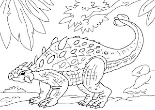 Cute Ankylosaurus Coloring Pages