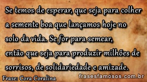 Frases da Poetisa Cora Coralina - Anna Lins dos Guimarães Peixoto Bretas