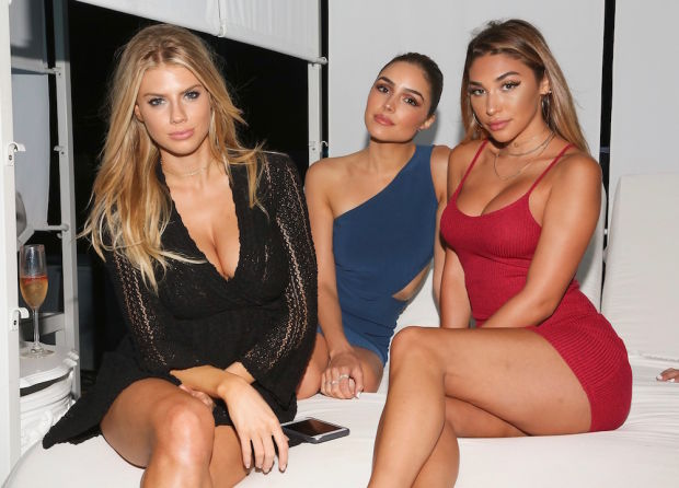Charlotte McKinney with Friends at the Mexican Hotel Bash