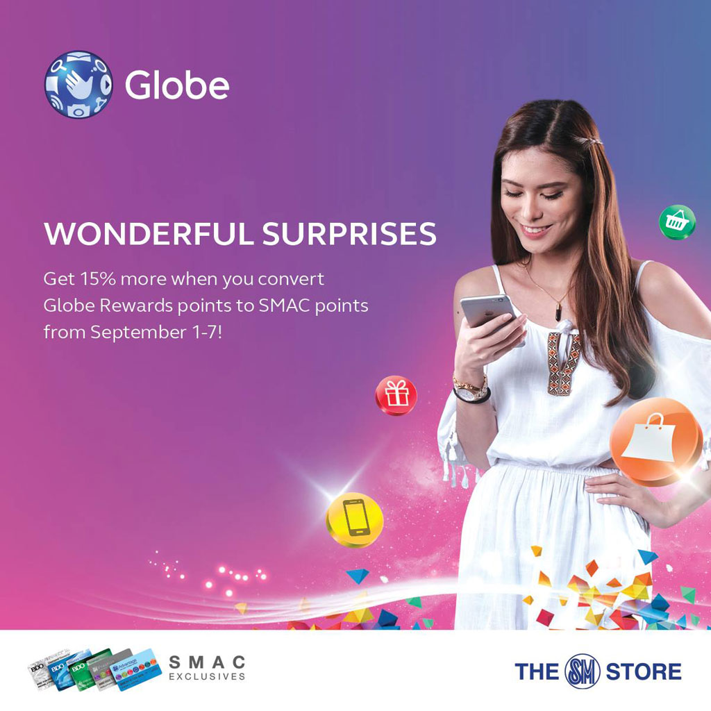 Globe September 2016 Wonderful Surprises