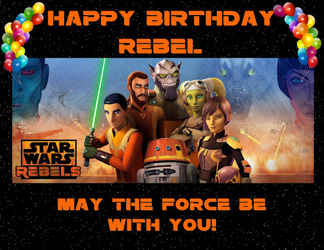 Star Wars Rebels Happy Birthday Party Banner - Free Printable