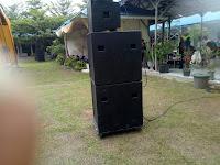 Komponen speaker sub dan midle untuk lapangan