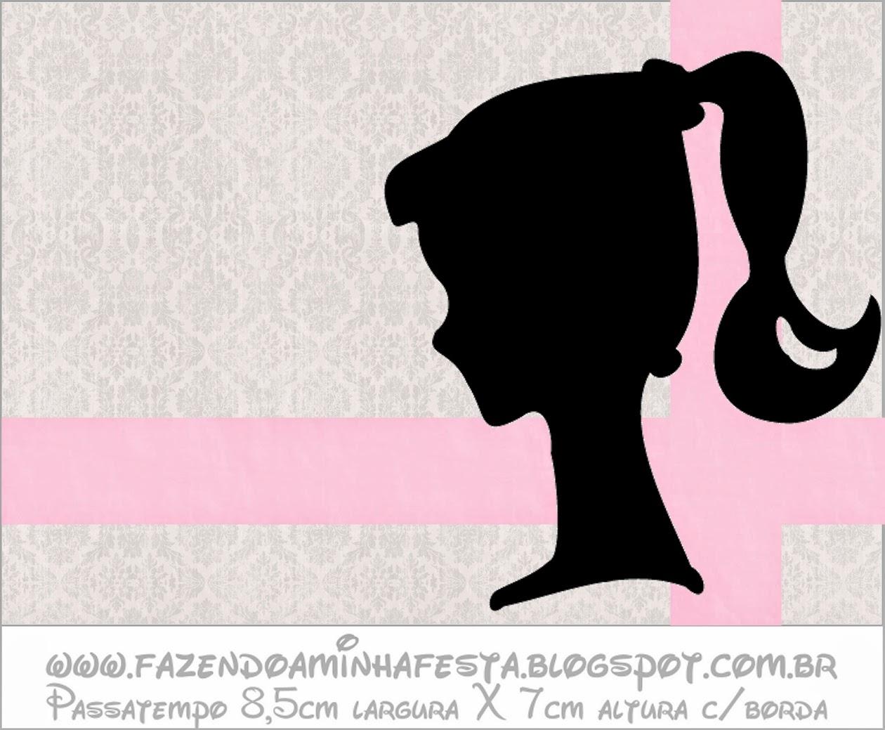 photo regarding Free Printable Barbie Silhouette identified as Barbie Silhouette: No cost Printable Sweet Buffet Labels. - Oh