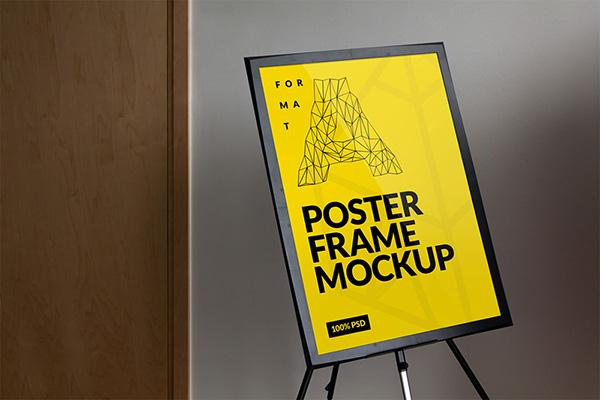 Download Poster Mockup PSD Terbaru Gratis - Free Frame Poster Mockup