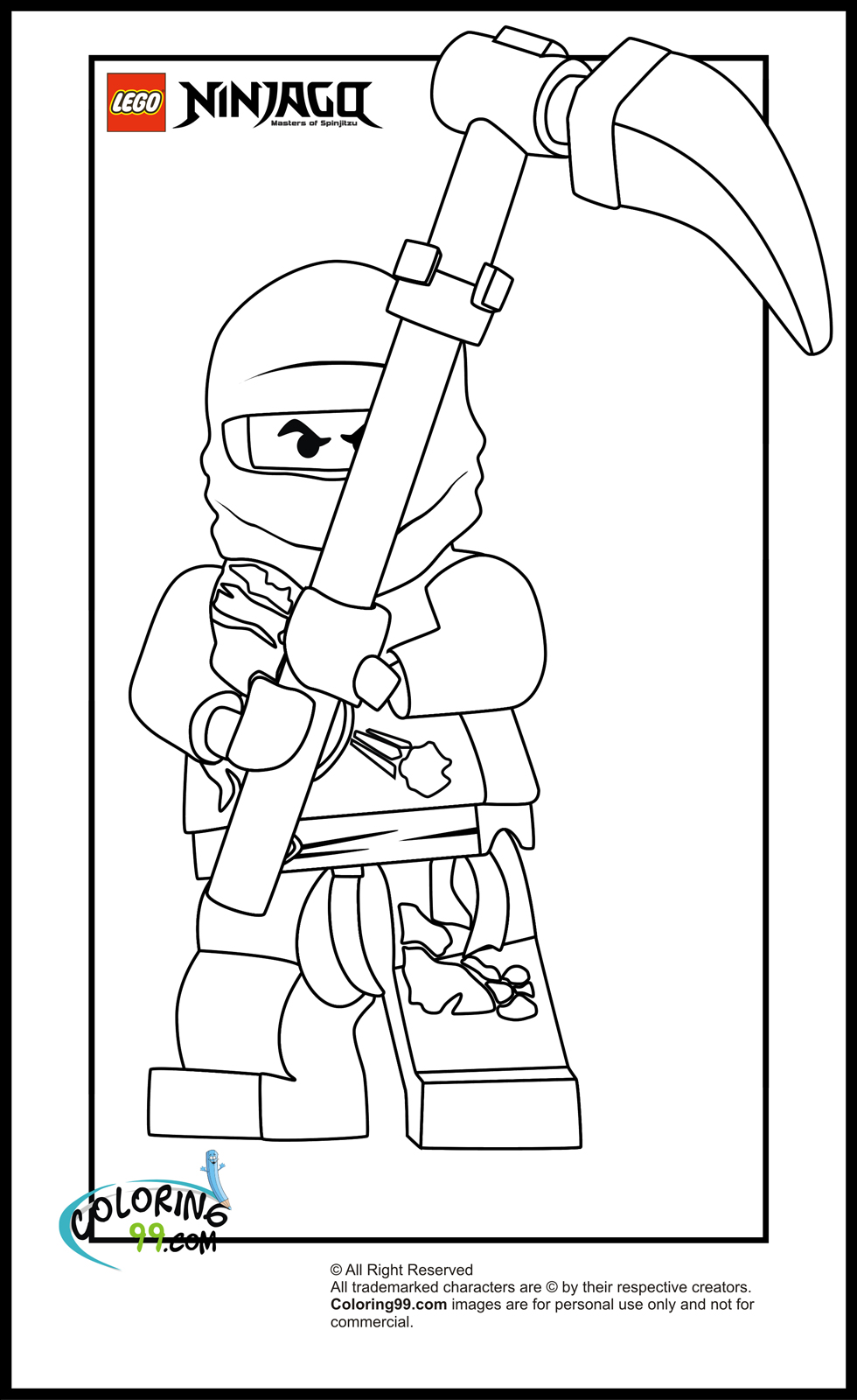 It is a photo of Intrepid ninjago coloring picture