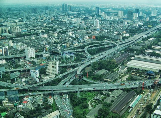 Vista de Bangkok desde el Baiyoke Tower 2