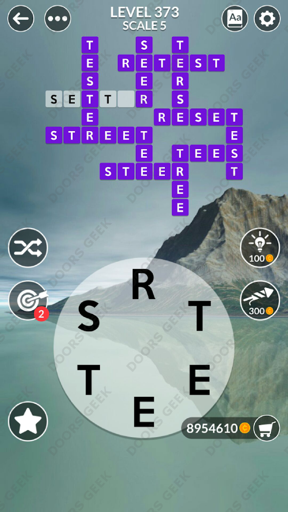 Wordscapes Level 373 answers, cheats, solution for android and ios devices.