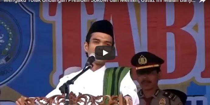 [Vidio] Tolak Undangan Keluarga Presiden Joko Widodo, Ustaz Somad Banjir Pujian
