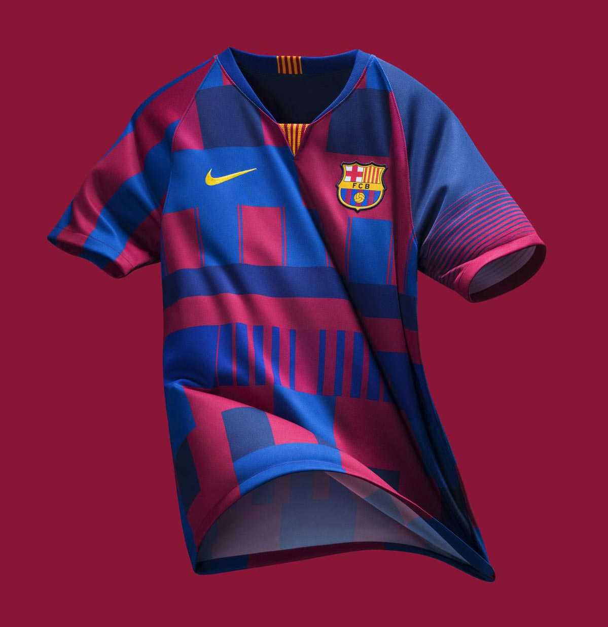 2615a6805f6 Nike FC Barcelona What The 20th Anniversary Jersey Released - Footy ...