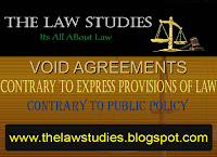 Void agreements, What is Public Policy, Contract Law