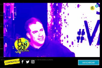 """Fotograma de entrevista al """"El Langui"""" donde no existe el subtitulado"""
