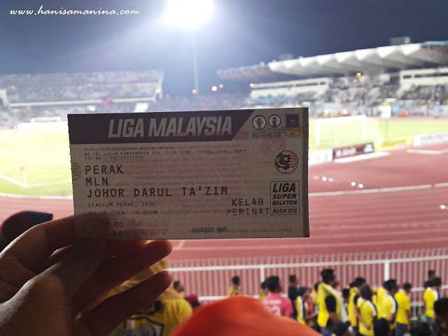 Perlawanan Bola Sepak Perak vs JDT 6 Ogos 2016