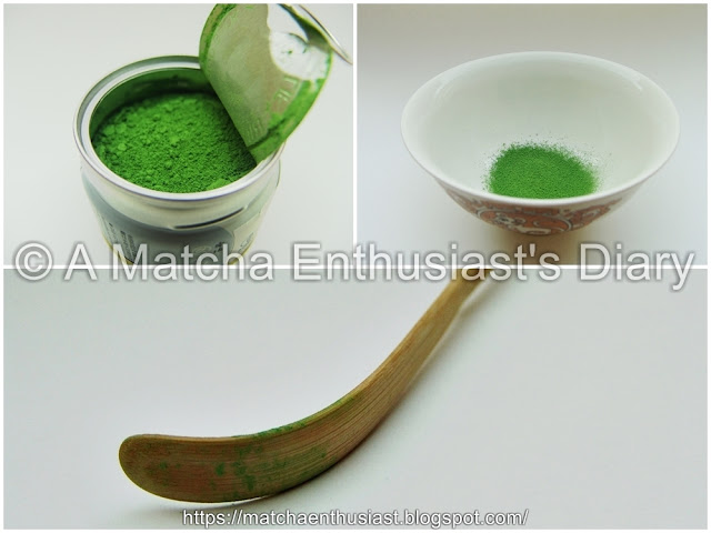 Appearance of the Matcha powder Organically cultivated Gold