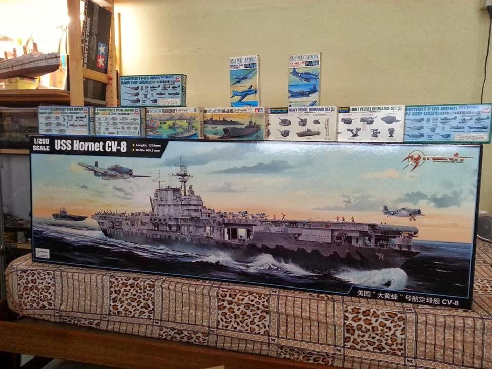 Kitter's Scale Models: 1/200 U S S Hornet CV-8 Aircraft Carrier