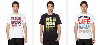Camisetas tipo Street de Reebok para hombres