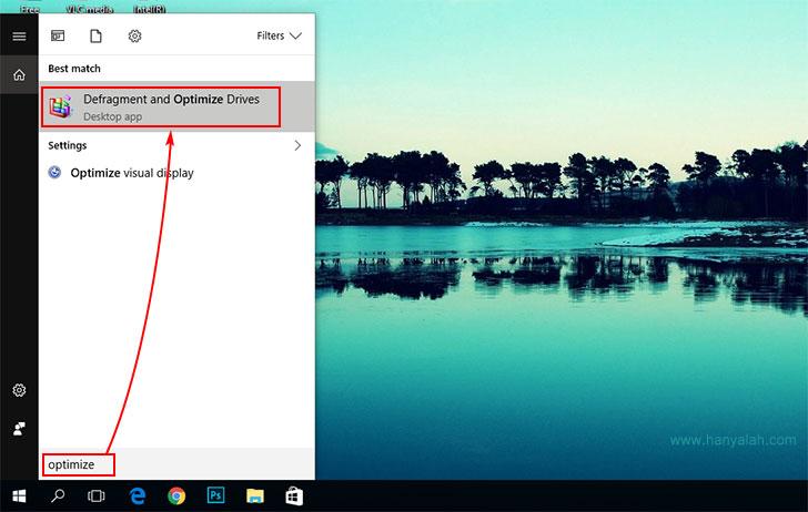 Cara Defragment Windows 10