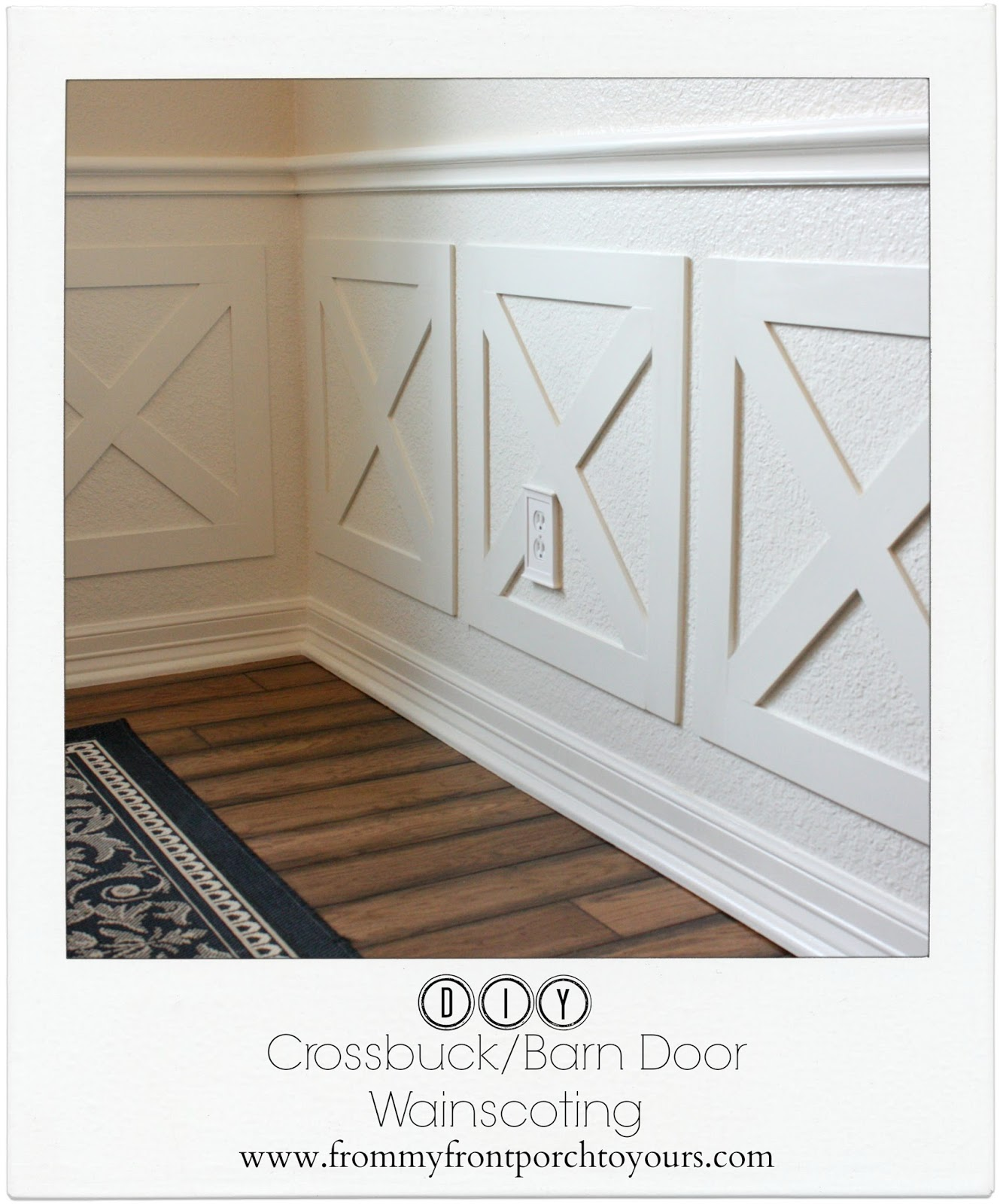 Cross Buck Wainscoting-How I Found My Style Sundays- From My Front Porch To Yours