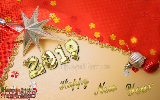 Happy New Year 2019 Golden Wallpapers Download Free