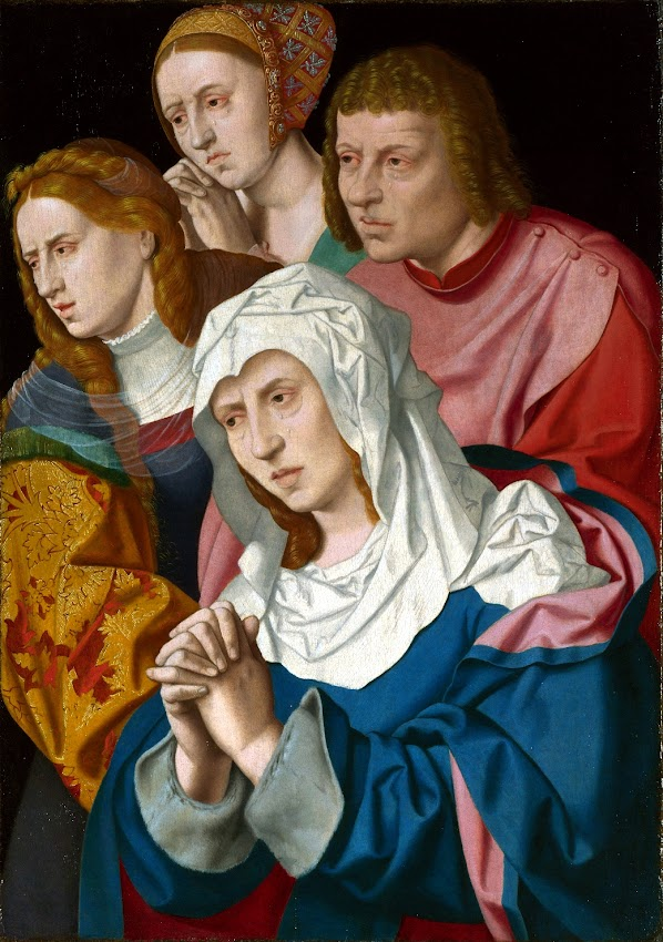 Bartholomeus Bruyn the Elder - The Virgin, Saints and a Holy Woman (1530-40)