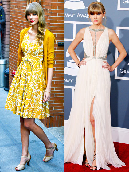 Magic Dress Trends See How Taylor Swift Changed On Red Carpet