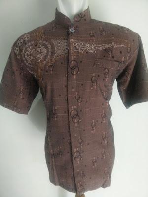 Baju Koko Coklat Lengan Pendek