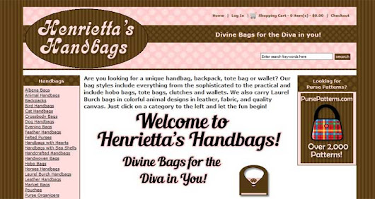 Upgraded Mobile Friendly Version of Henrietta's Handbags
