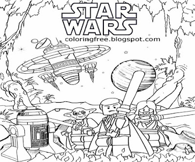 R2 D2 clipart space mini force star wars Lego drawing for teens moon black and white printable robot
