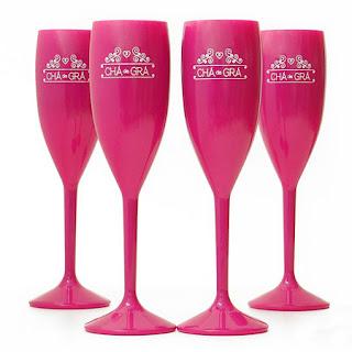 taças de acrílico personalizadas pretas  opacas pink