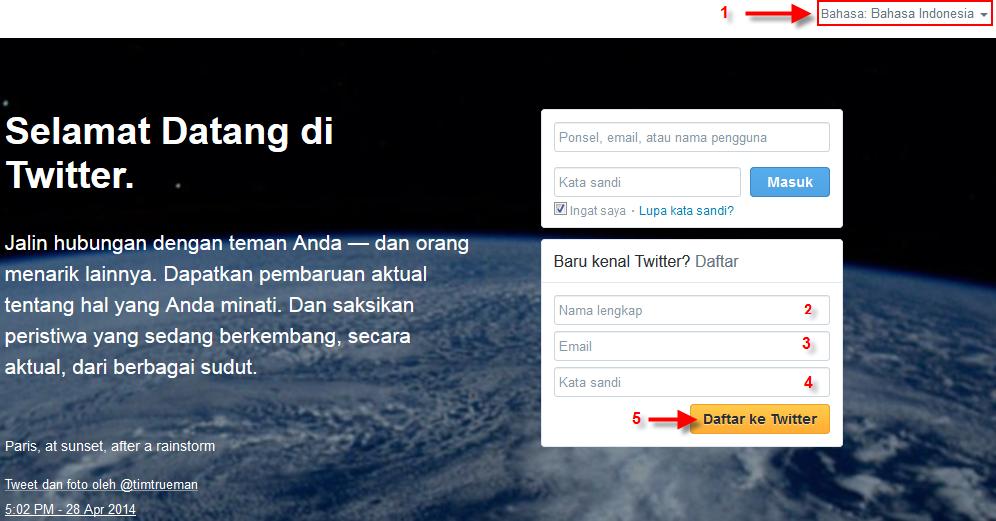 Cara Membuat Twitter baru