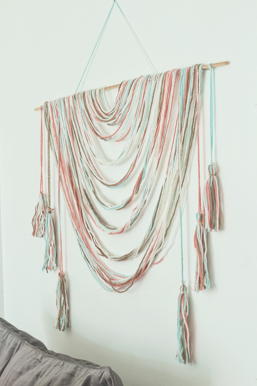 Easy No-Weave, DIY Wall Hanging for Less than $4 - Made by ...